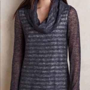NWT Moth | Cowl Neck Alpaca Sweater Striped Jersey